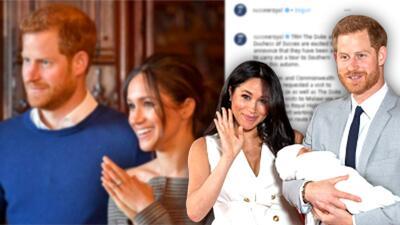 """El príncipe Harry y Meghan Markle anuncian su primera gira oficial """"en familia"""" (a otro continente y con Archie)"""