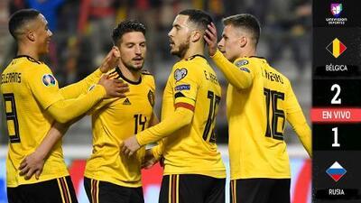 EN VIVO | Bélgica retoma el control de la pelota ante una Rusia que vuelve a ser muy pasiva