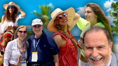 De las 500 millas a Las Bahamas: las fotos de El Gordo y La Flaca en un fin de semana largo de sol, arena y autos