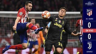 EN VIVO | Se enfrían las ofensivas y el gol no llega entre Alético y Juventus