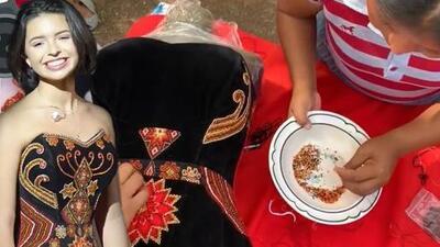 A mano y hecho por indígenas: Ángela Aguilar muestra cómo se hizo el vestido con el que deslumbró en Latin GRAMMY