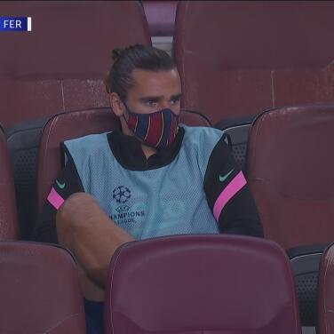 ¿El Gareth Bale del Barcelona? Griezmann desconsolado en la banca