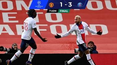 Manchester United cae en casa ante el PSG con doblete de Neymar