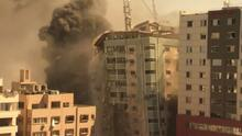Aviación israelí derriba edificio en Gaza donde estaban oficinas de varios medios internacionales