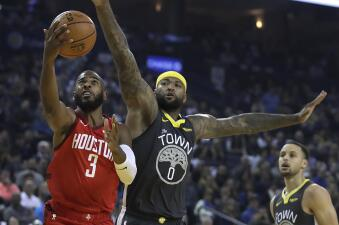Carrusel NBA: Rockets doblegan a Warriors y Giannis conduce a los Bucks a otro triunfo