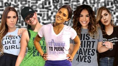 Llevan la actitud hasta en la camiseta: los mensajes motivacionales de nuestras conductoras en sus looks