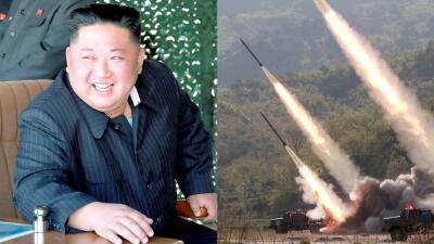 Las pruebas de misiles norcoreanos de corto alcance supervisadas por Kim Jong Un (fotos)