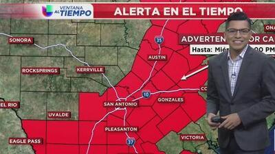 Activan alertas por calor intenso para este miércoles en el centro de Texas