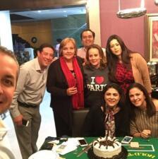 En fotos: Victoria Ruffo festejó así su 55 cumpleaños