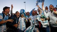 Así vivieron los hinchas albicelestes el agónico triunfo de Argentina en el Mundial de Rusia
