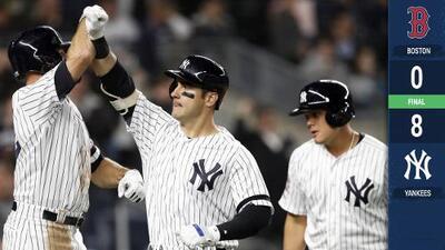 Yankees aprovechan mal paso de Red Sox y los blanquean en su primer duelo del año