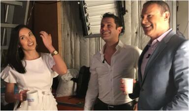 En fotos: lo que pasó en la visita de Mark Tacher (y su novia Cynthia Alesco) a Despierta América