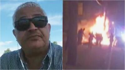 """""""Todavía está en estado crítico"""", dice el tío del joven hispano golpeado por la policía mientras ardía en llamas"""
