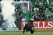 Jun 19, 2021; Austin, TX, USA; Matthew McConaughey performs before the first game at Q2 Stadium between the San Jose Earthquakes and the Austin FC. Mandatory Credit: Scott Wachter-USA TODAY Sports
