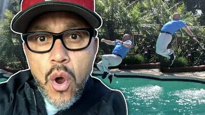 Pedro Rivera Jr, se lanzó de clavado al agua con ropa (y dijo que no estaba borracho ni drogado)