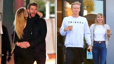Miley Cyrus y su ex Liam Hemsworth se dejan ver muy cariñosos... pero cada uno por su lado
