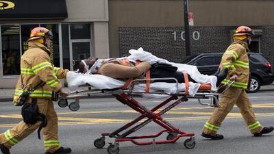 Más de 100 heridos tras el descarrilamiento de un tren en Brooklyn