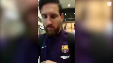 """Mujer le dice a Messi """"pecho frío"""" en su cara"""