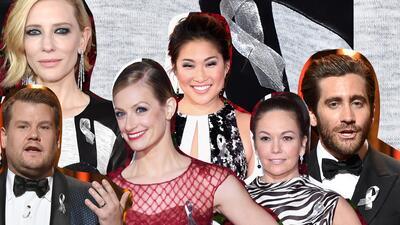 El significado del listón translúcido y los mejores looks de belleza de los Tony Awards