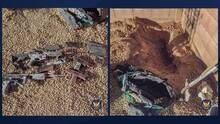 Arizonenses encuentran una bolsa llena de armas enterradas en el jardín de su casa