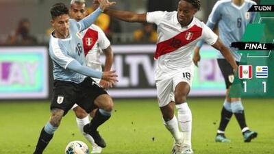 Con poca actividad de 'mexicanos', Perú y Uruguay empatan