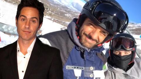 Mauricio Ochmann 'desconfía' de su suegro Eugenio Derbez mientras vacacionan en la nieve
