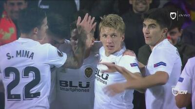 Gol del Valencia: Gameiro anotó tras una gran jugada entre Parejo y Wass