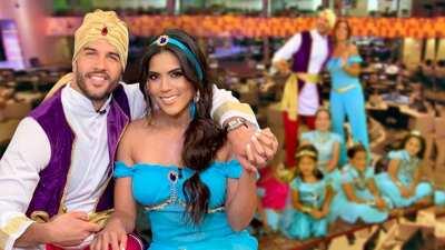 La magia de 'Aladdin' se apoderó de Francisca y Yisus: mira cómo sorprendieron a las princesas que nos visitaron
