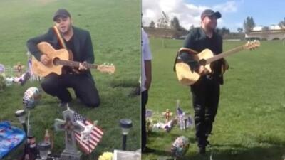 Salen a la luz unos vídeos de Gerardo Ortiz cantando en la tumba de un aspirante a policía en Los Ángeles