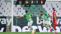 Betis suma nueva victoria en LaLiga con Lainez y Guardado