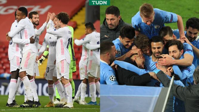 Antecedentes del Real Madrid y City en Semifinales