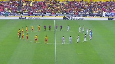 Previo al Morelia vs. Pachuca se guardó un minuto de silencio por las víctimas de Barcelona