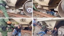 Ocultos entre arena, bajo calor extremo: rescatan a 25 inmigrantes de la tolva de un tren en Texas