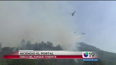 Incendio cerca de Yosemite