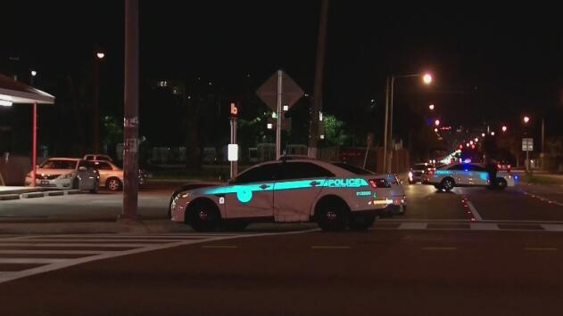 Oficial de la policía de Miami resultó herida tras un accidente de tránsito