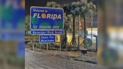 El sol de Florida fue reemplazado por una sorpresiva nevada en varias áreas del estado