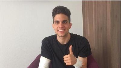 Marc Bartra fue operado con éxito, publica imagen de su estado de salud