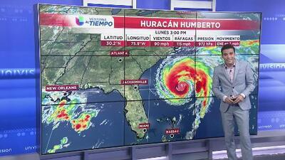 Huracán Humberto no representa peligro para Carolina del Norte