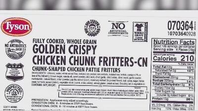 Tyson Food retira más de 190,000 libras de pollo que podría estar contaminado con plástico