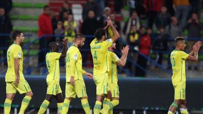 Nantes frenó al sorprendente Caen y Lyon goleó al Toulouse