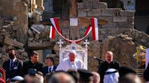 La visita del Papa a la iglesia que Estado Islámico usó como prisión