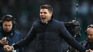 Steven Gerrard enloquece después de ganar el derbi de Old Firm