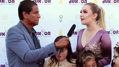 Emocionada, esposa de Larry Hernández cuenta cómo apoyará con su familia a una fundación de niñas con cáncer