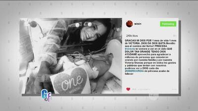 Wisin compartió en sus redes el fallecimiento de su pequeña Victoria con un conmovedor mensaje