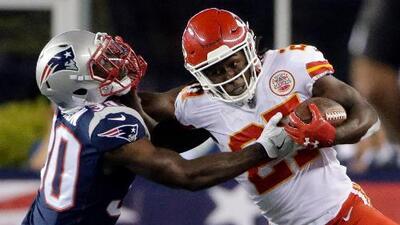 Kansas City humilló a los Patriots en el Kickoff de la temporada