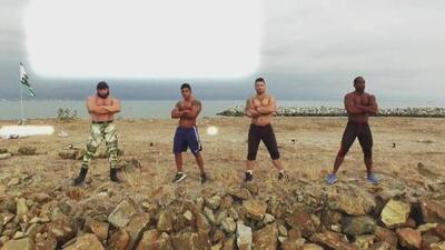 Guerrero Latino: el cubano ganó la prueba de fuerza y resistencia de campo minado