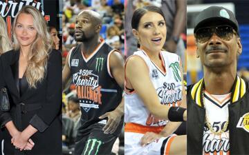 Estas son las celebridades que participaron en el juego de básquetbol Chartity Challenge