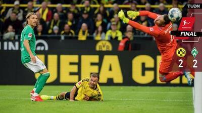 En gran partido, Dortmund y Bremen dividieron puntos