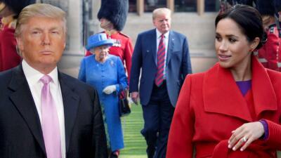 """Meghan Markle, quien una vez llamó """"misógino"""" a Donald Trump, no almorzará con él en el palacio de Buckingham"""