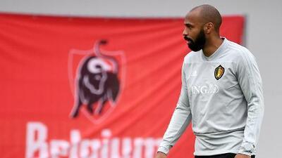 Thierry Henry, un mito del fútbol francés al servicio de los belgas